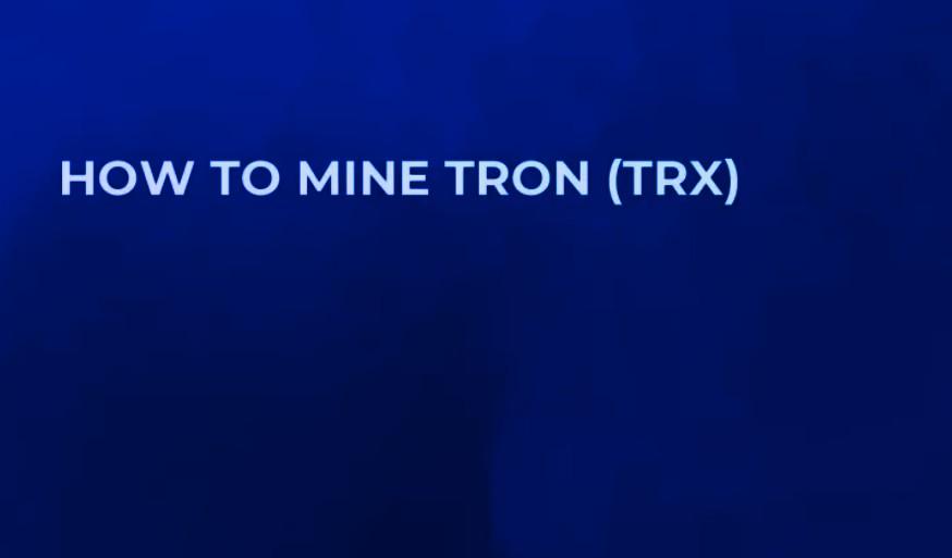 how to mine tron